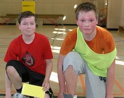 Lukas (Devils, rechts) und Florian waren die Spieler des Tages.