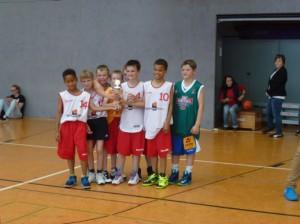 Platz 3 für die Citybasketballer // Foto: Hebner