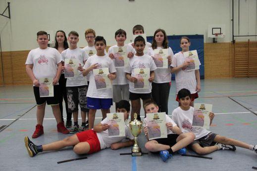Die strahlenden Turniersieger der Teen Wolves // Foto: Mogk
