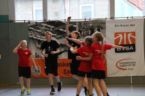 Der Spaß am Basketball hat in der Schulliga absoute Priorität. // Foto: BVSA