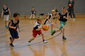 Basketball in der Staffel Halle